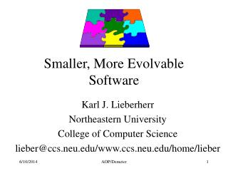 Smaller, More Evolvable Software