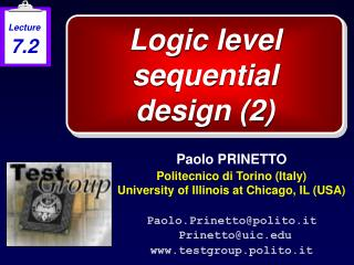 Logic level sequential  design 2