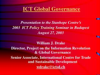 ICT Global Governance