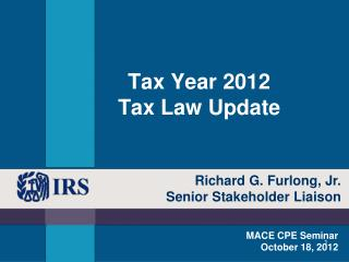 Tax Year 2012 Tax Law Update
