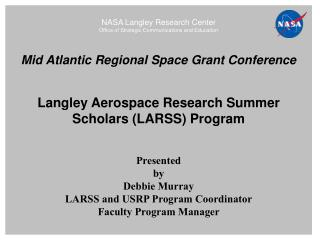 NASA Langley Research Center Office of Strategic Communications and Education