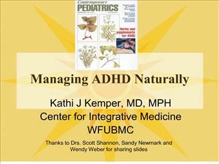 managing adhd naturally