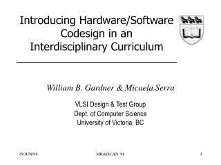 Introducing Hardware/Software Codesign in an Interdisciplinary Curriculum