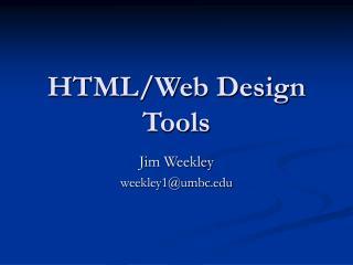HTML/Web Design Tools