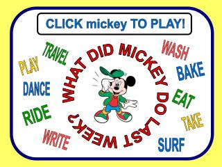 CLICK mickey TO PLAY!