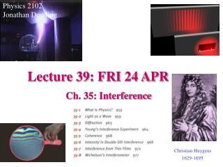 Lecture 39: FRI 24 APR