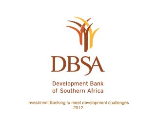 Investment Banking to meet development challenges 2012