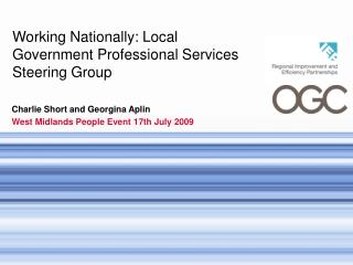 Working Nationally: Local Government Professional Services Steering Group