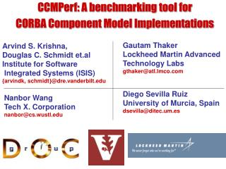 CCMPerf: A benchmarking tool for  CORBA Component Model Implementations