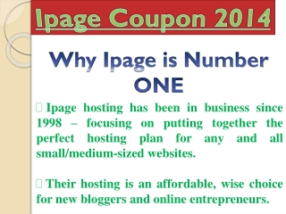 iPage Coupon – Get Up To 85% Discount for iPage Hosting with