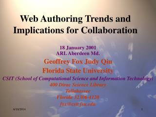 Web Authoring Trends and Implications for Collaboration