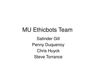 MU Ethicbots Team