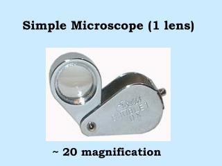 Simple Microscope (1 lens)