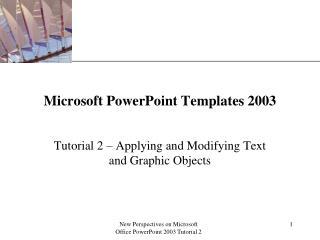 Microsoft PowerPoint Templates 2003