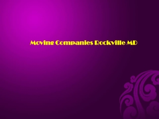Moving Companies Rockville MD