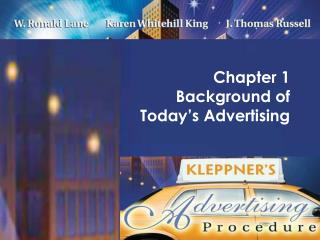 Chapter 1  Background of  Today's Advertising