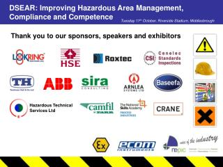 Thank you to our sponsors, speakers and exhibitors
