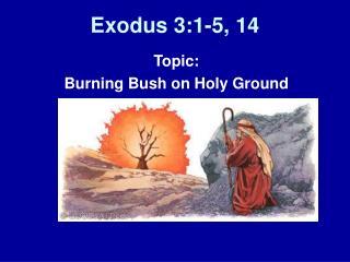 Exodus 3:1-5, 14