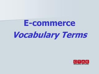 E-commerce Vocabulary Terms