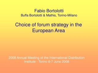 Fabio Bortolotti Buffa Bortolotti & Mathis, Torino-Milano