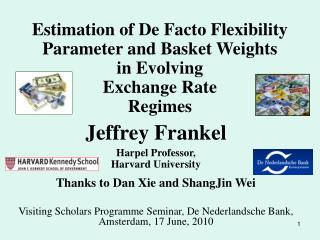 Jeffrey Frankel Harpel Professor,  Harvard University Thanks to Dan Xie and ShangJin Wei