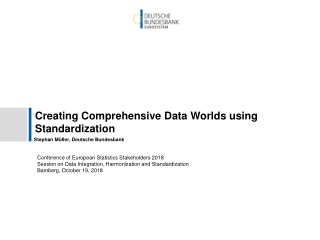 methodology, approach and existing  tools for data production and harmonization