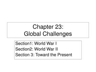 Chapter 23: Global Challenges