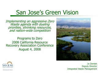 San Jose's Green Vision