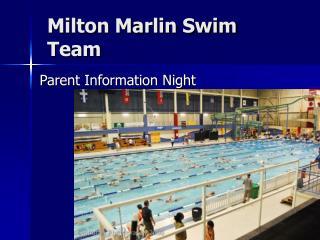 Milton Marlin Swim Team
