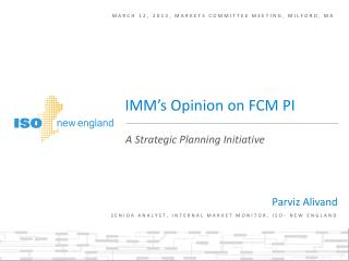 March 12, 2013, markets committee meeting, Milford, ma
