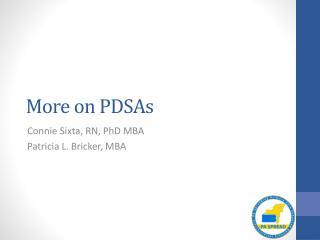 More o n PDSAs