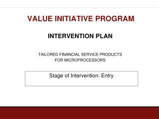 VALUE INITIATIVE PROGRAM