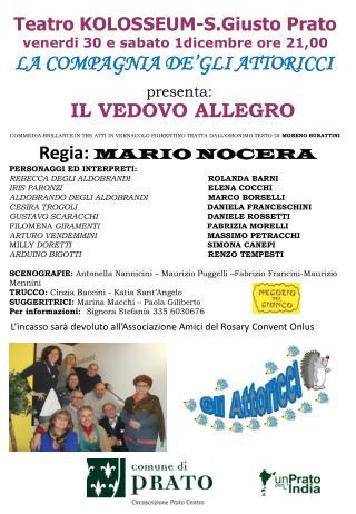 Teatro KOLOSSEUM-S.Giusto Prato venerdi 30 e sabato 1dicembre ore 21,00