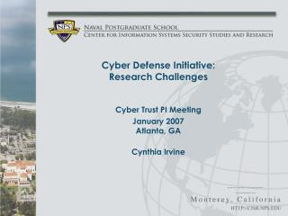 Cyber Defense Initiative: Research Challenges