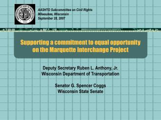 Supporting a commitment to equal opportunity on the Marquette Interchange Project