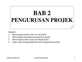 BAB 2 PENGURUSAN PROJEK