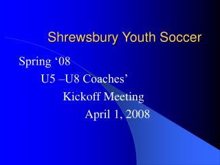 Shrewsbury Youth Soccer