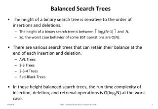 Balanced Search Trees