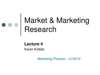 Market & Marketing Research