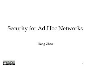 security for ad hoc networks