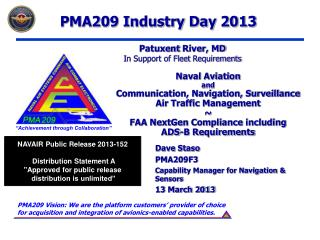 Naval Aviation  and Communication, Navigation, Surveillance Air Traffic Management ~ FAA NextGen Compliance including AD