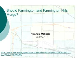 Should Farmington and Farmington Hills Merge?
