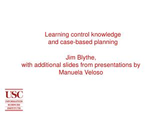 Learning control knowledge and case-based planning
