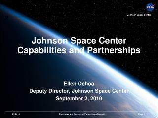 Johnson Space Center Capabilities and Partnerships