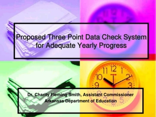 proposed three point data check system for adequate yearly progress