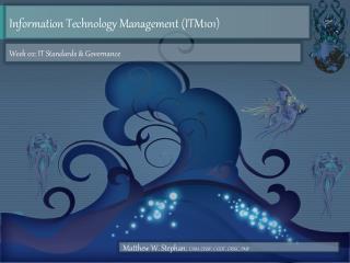 Information Technology Management (ITM101 )