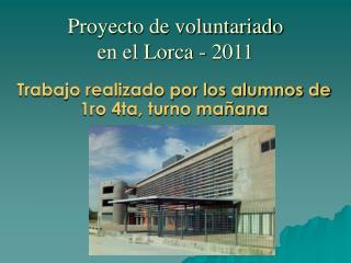Proyecto de voluntariado en el Lorca - 2011