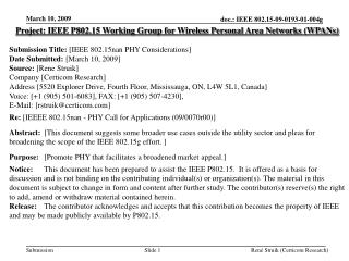 Project: IEEE P802.15 Working Group for Wireless Personal Area Networks (WPANs) Submission Title: [IEEE 802.15nan PHY C