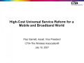 High-Cost Universal Service Reform for a Mobile and Broadband World