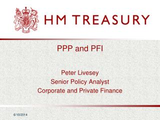 PPP and PFI